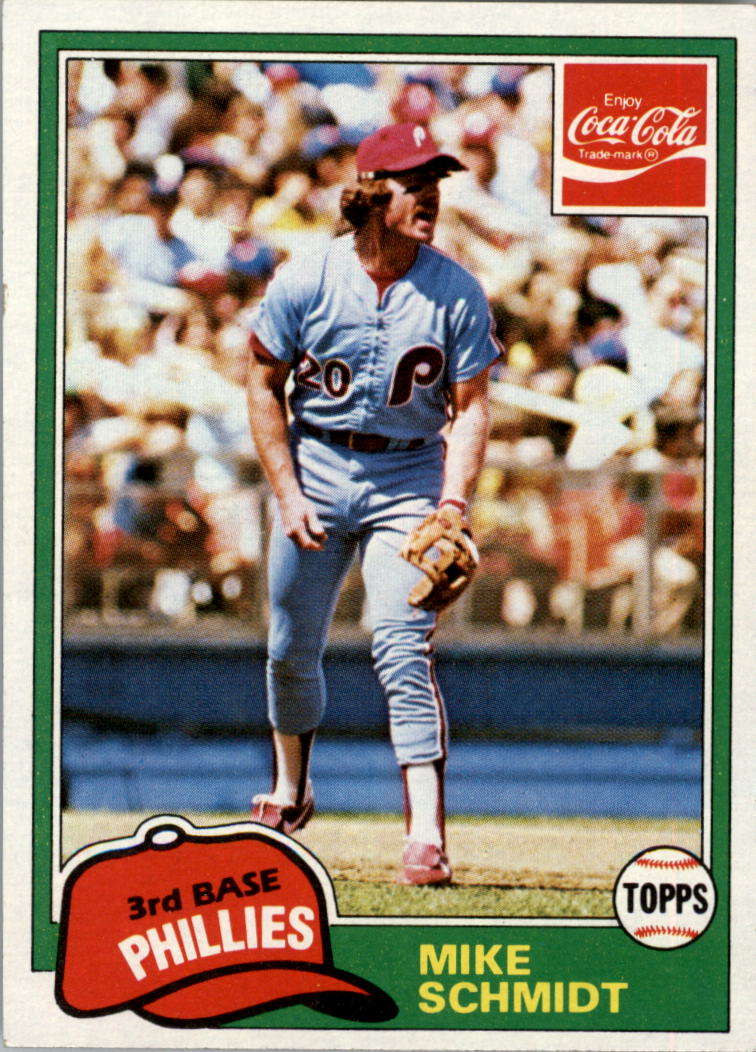 1981 Coke Team Sets #105 Mike Schmidt