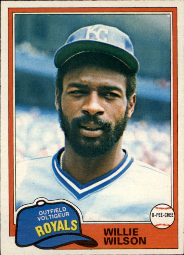 1981 O-Pee-Chee #360 Willie Wilson