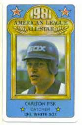 1981 Perma-Graphic All-Stars #13 Carlton Fisk front image