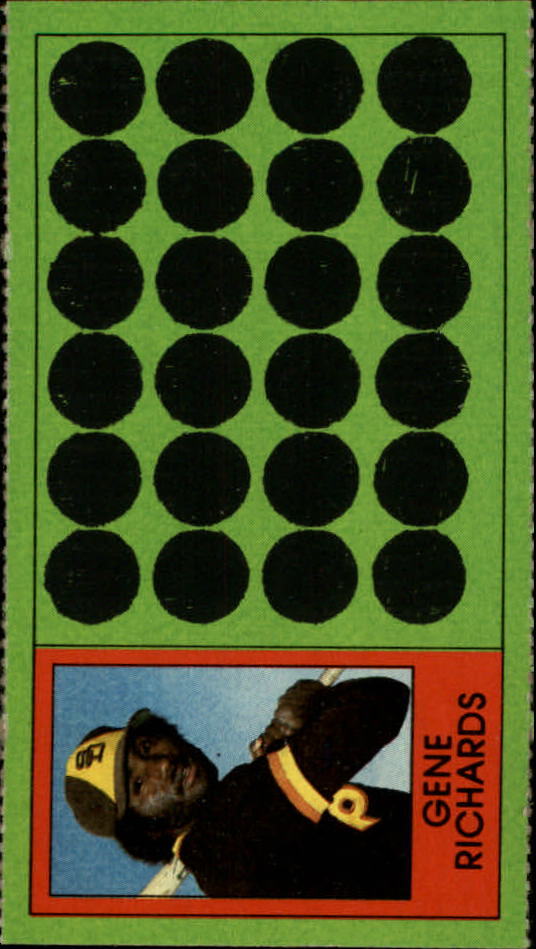 1981 Topps Scratchoffs #86 Gene Richards