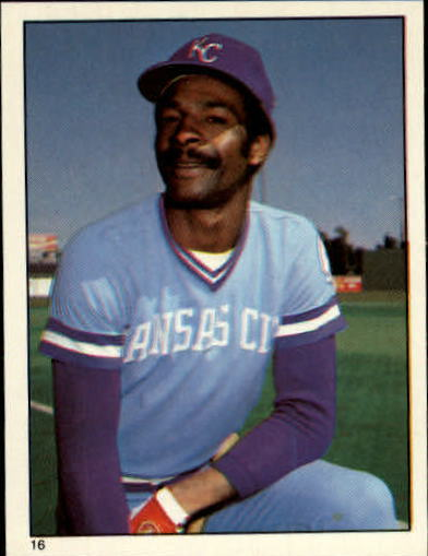 1981 Topps Stickers #16 Willie Wilson