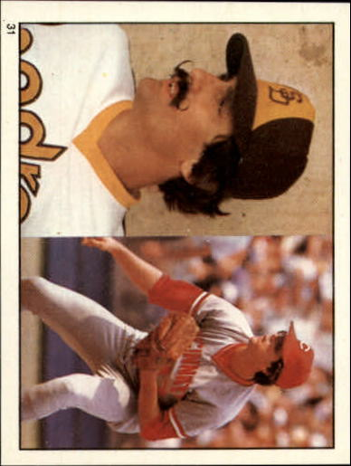 1981 Topps Stickers #31 Rollie Fingers/Tom Hume