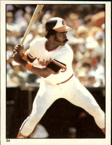 1981 Topps Stickers #34 Eddie Murray front image