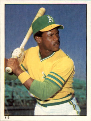 1981 Topps Stickers #115 Rickey Henderson