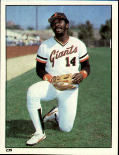 1981 Topps Stickers #239 Vida Blue