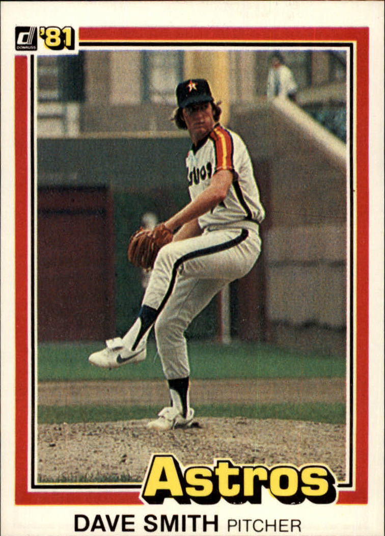 1981 Donruss #23A Dave Smith P1/Line box around stats/is not complete