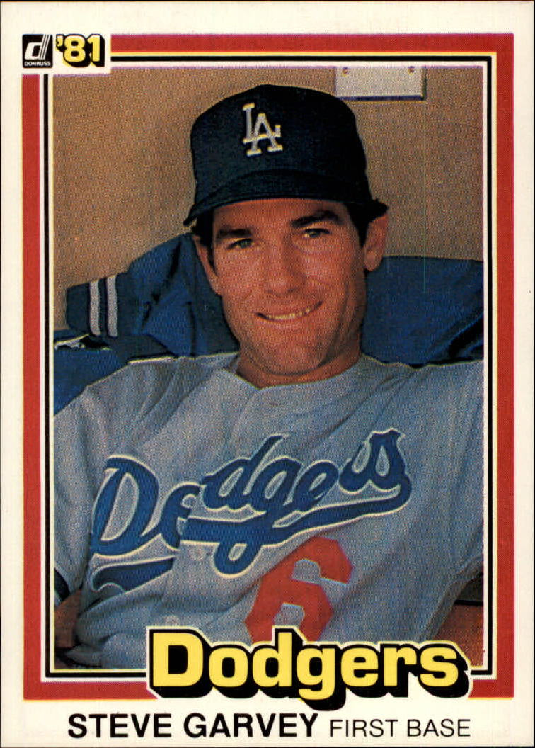1981 Donruss #56A Steve Garvey P1/Surpassed 25 HR