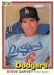 1981 Donruss #56B Steve Garvey P2 21HR