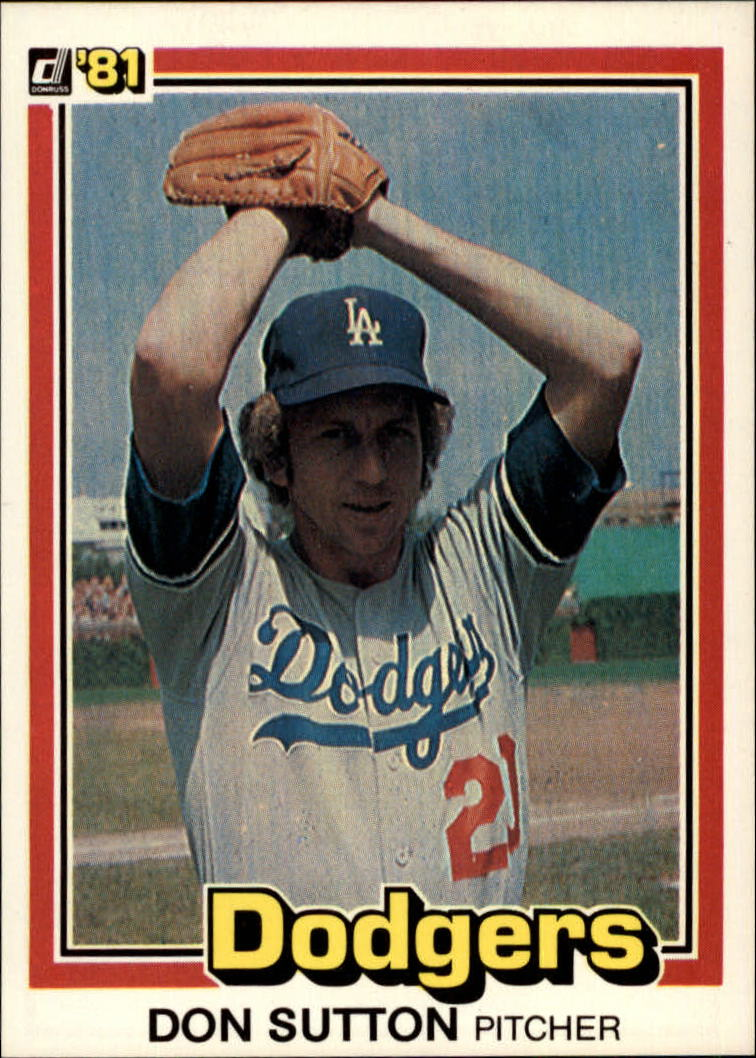 1981 Donruss #58 Don Sutton