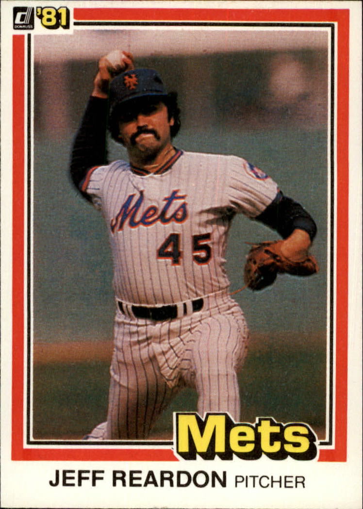 1981 Donruss #156 Jeff Reardon RC
