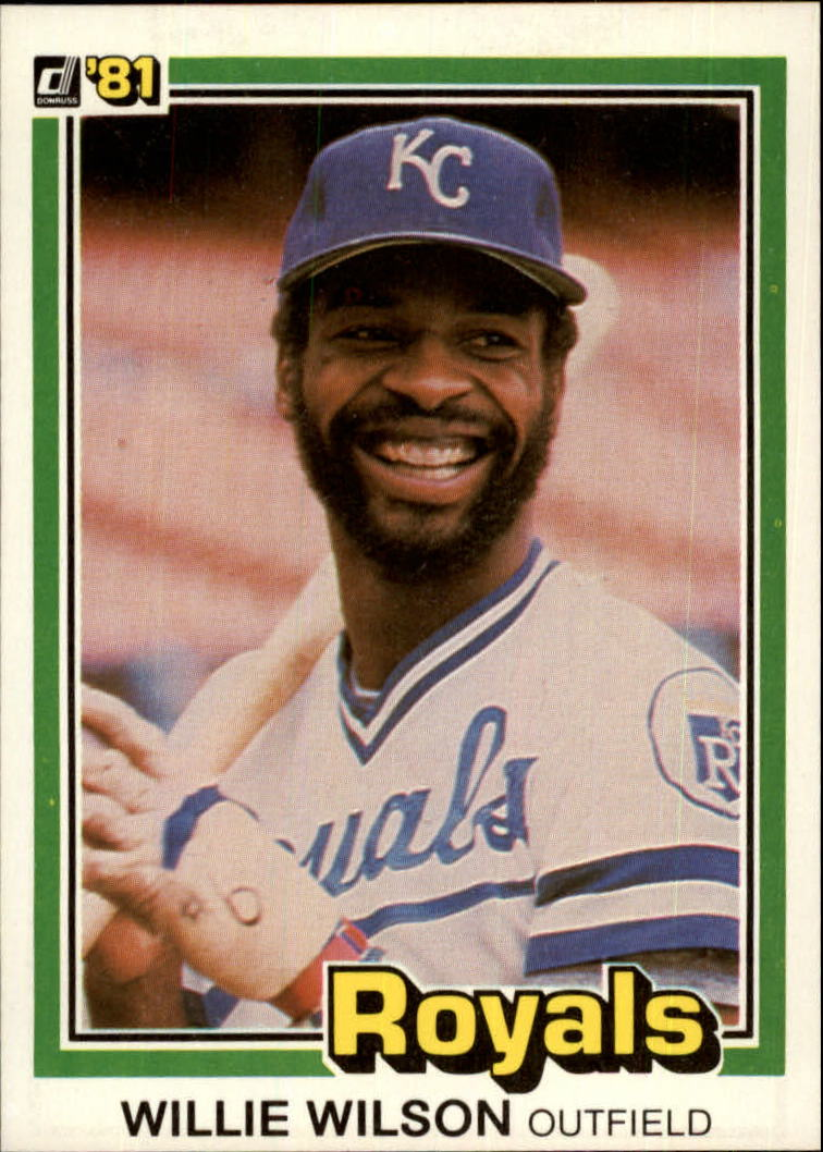1981 Donruss #223 Willie Wilson