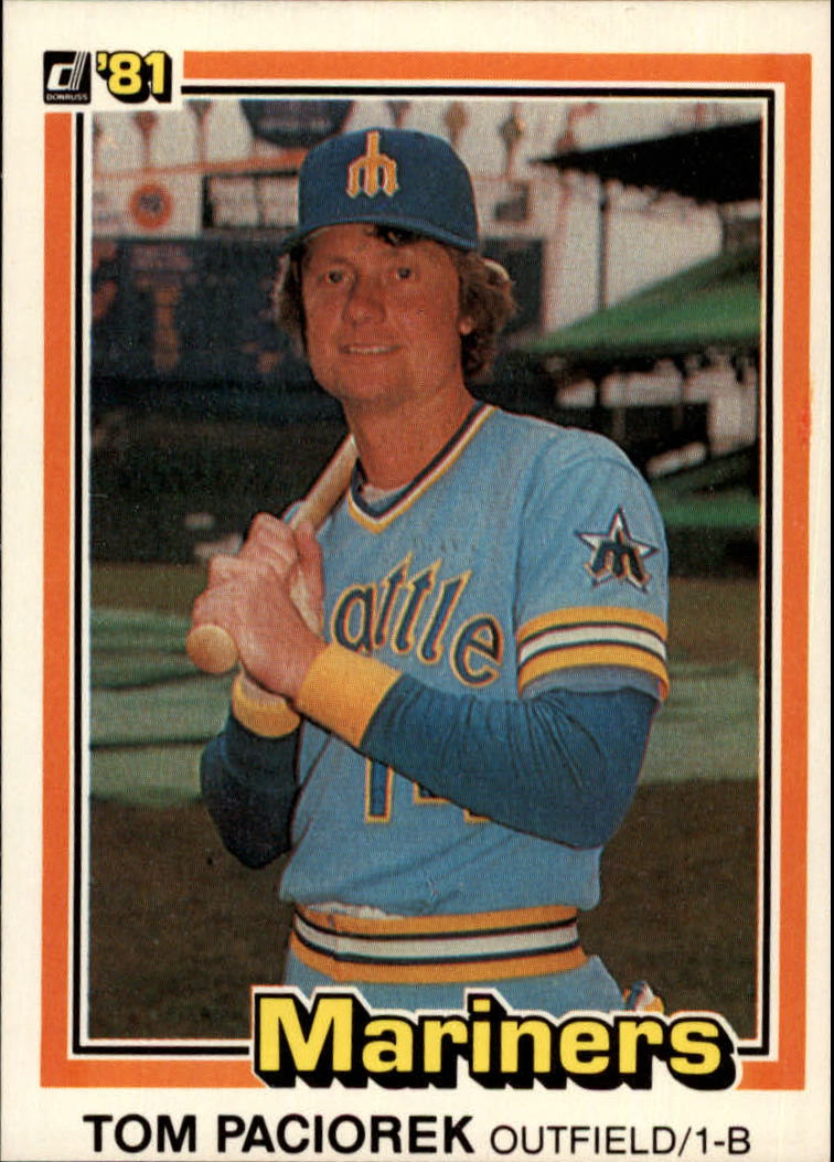 1981 Donruss #408 Tom Paciorek