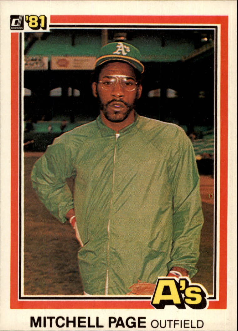 1981 Donruss #480 Mitchell Page