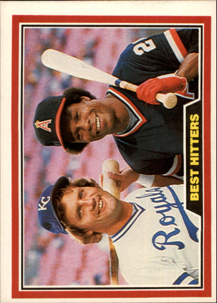 1981 Donruss #537 George Brett/Rod Carew