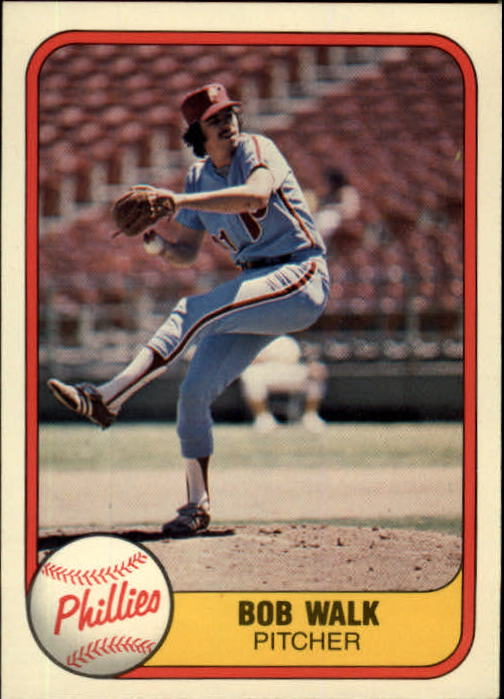 1981 Fleer #14 Bob Walk RC
