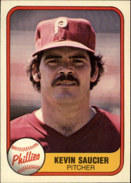 1981 Fleer #24A Kevin Saucier P1/Name on back Ken