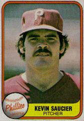 1981 Fleer #24C Kevin Saucier P3/Name on back Kevin