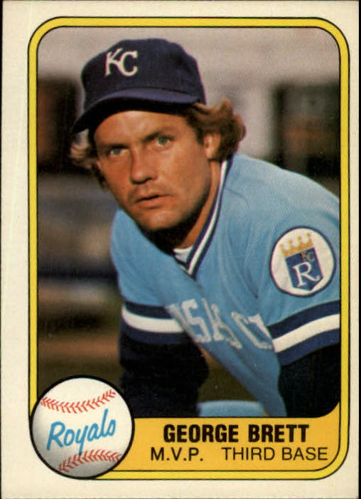1981 Fleer #28 George Brett/See also 655A