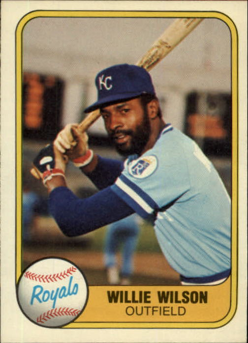1981 Fleer #29 Willie Wilson/See also 653A
