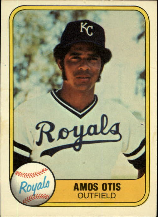 1981 Fleer #32A Amos Otis P1/(Batting Pose/Outfield/32 on back