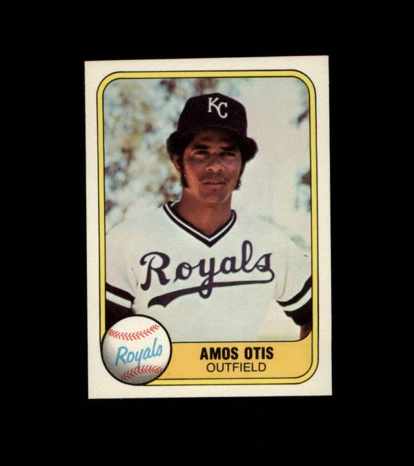 1981 Fleer #32B Amos Otis P2/Series Starter/483 on back