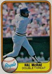 1981 Fleer #41B Hal McRae P2/(Royals on front/in blue letters