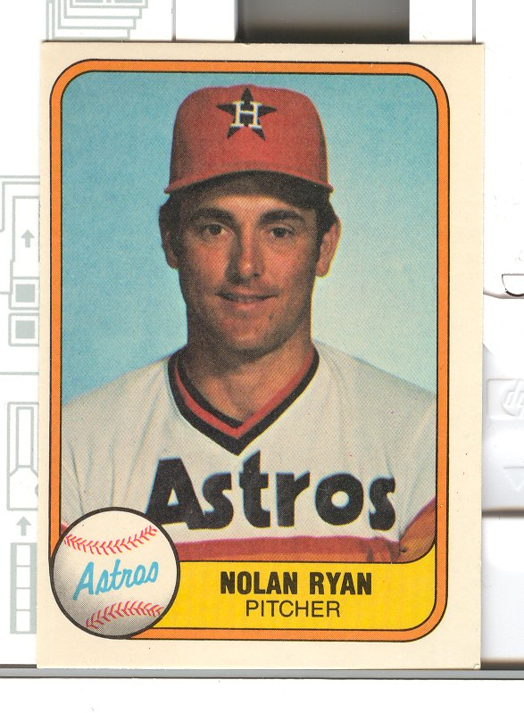 1981 Fleer #57 Nolan Ryan