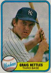1981 Fleer #87B Graig Nettles COR/Graig