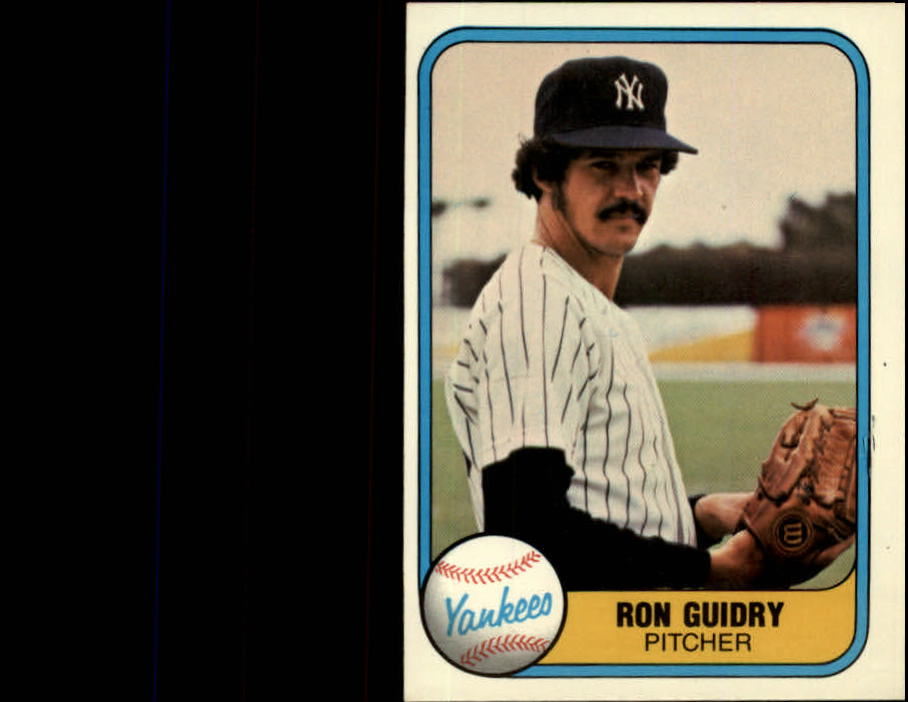 1981 Fleer #88 Ron Guidry