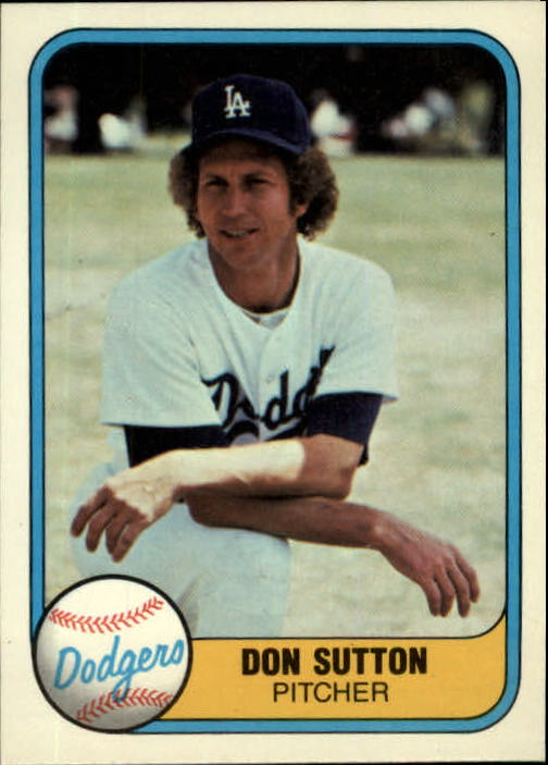 1981 Fleer #112 Don Sutton