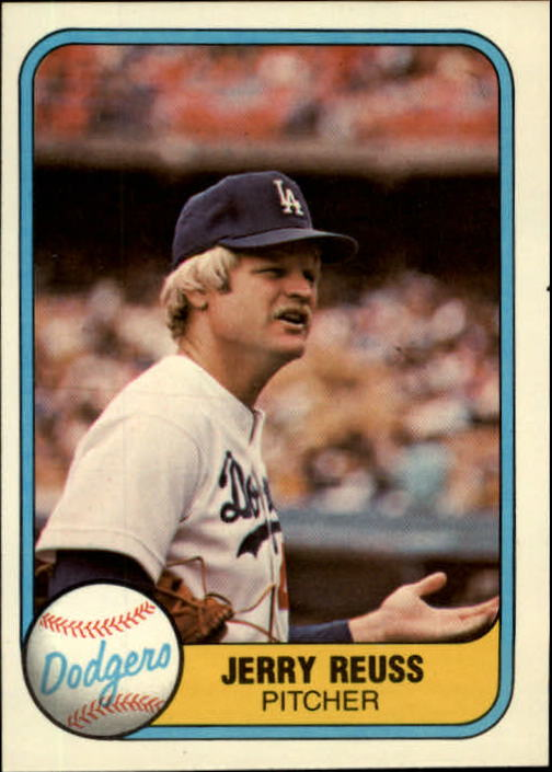1981 Fleer #118 Jerry Reuss UER/Home omitted