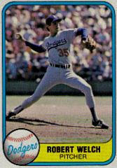 1981 Fleer #120B Bob Welch P2/Name on back is Robert