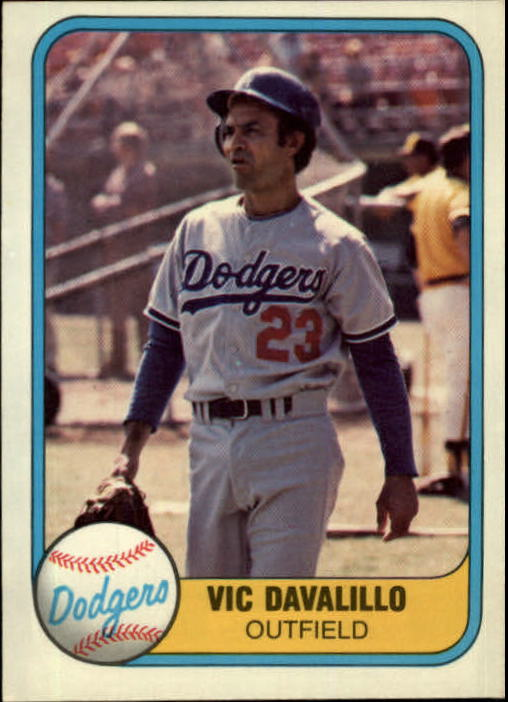 1981 Fleer #132 Vic Davalillo