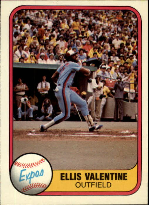 1981 Fleer #148 Ellis Valentine