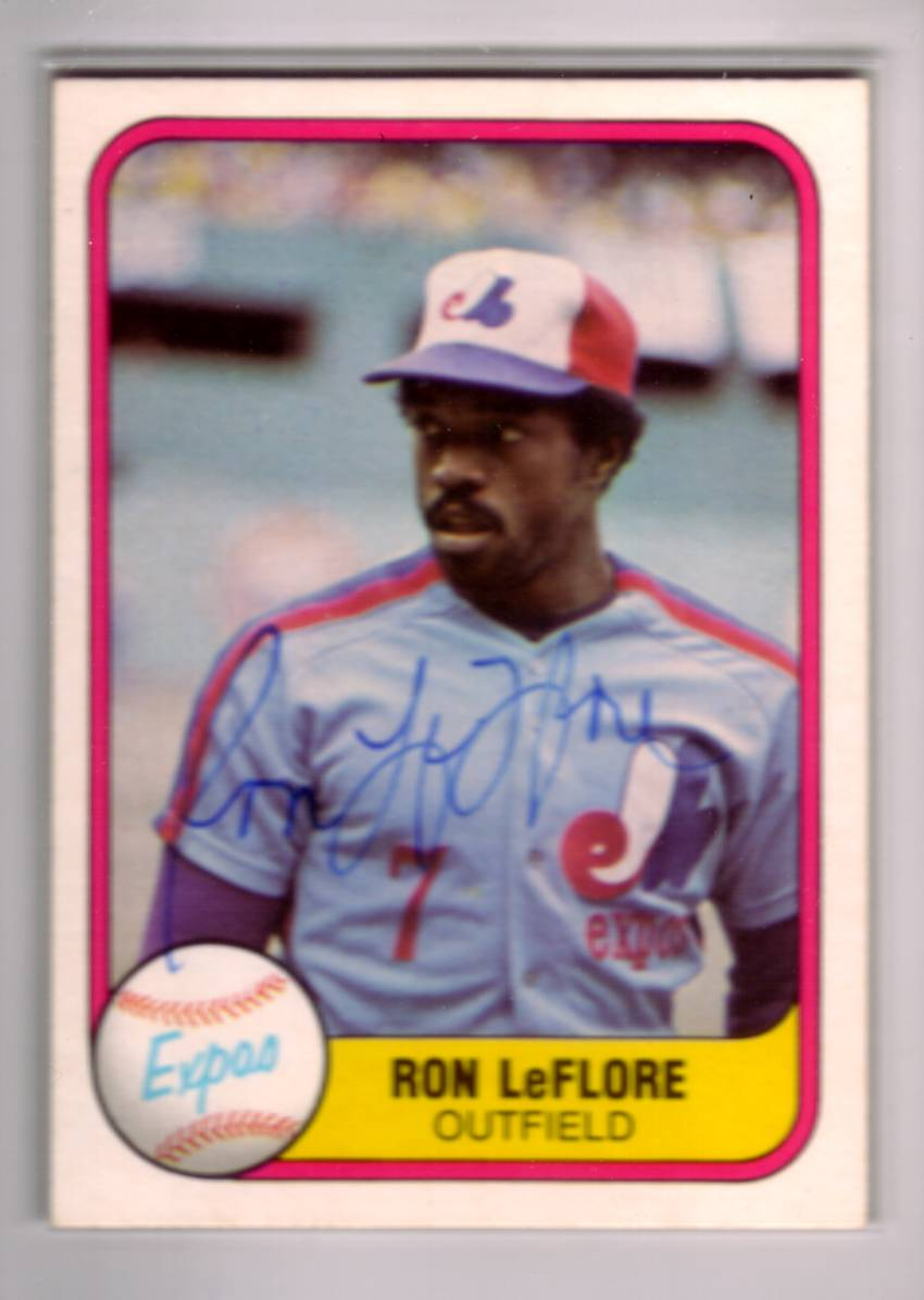 1981 Fleer #154 Ron LeFlore