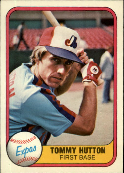 1981 Fleer #164 Tommy Hutton