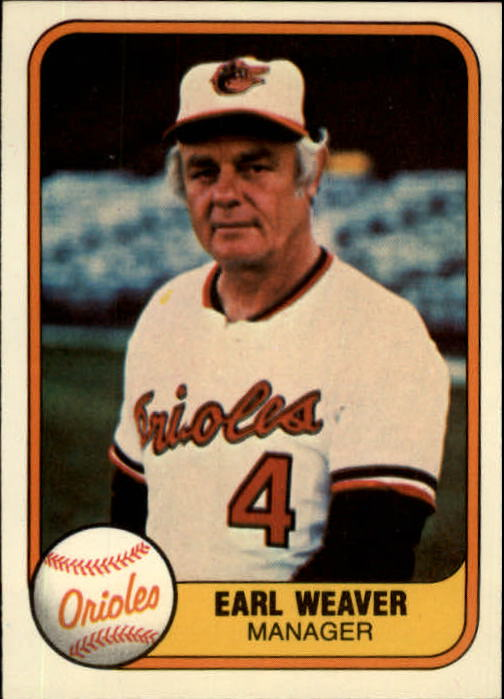 1981 Fleer #178 Earl Weaver MG