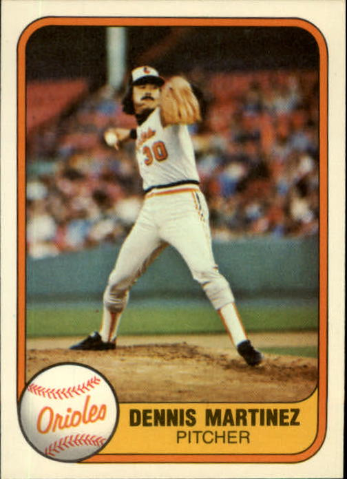 1981 Fleer #180 Dennis Martinez