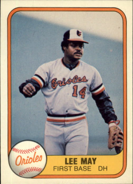 1981 Fleer #183 Lee May front image