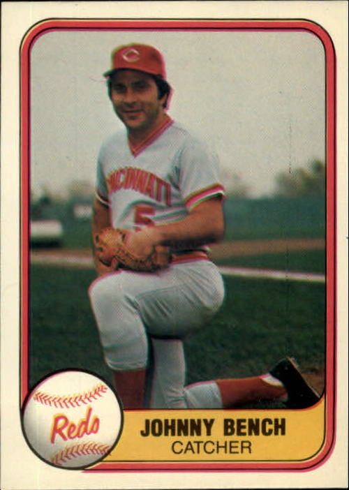 1981 Fleer #196 Johnny Bench
