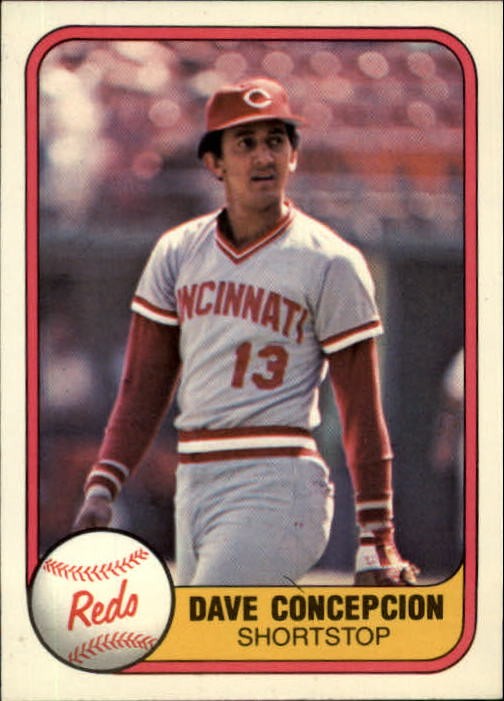 1981 Fleer #197 Dave Concepcion