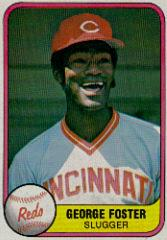 1981 Fleer #202B George Foster P2/Slugger/Number on back 202