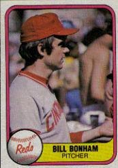 1981 Fleer #215B Bill Bonham P2/(No hand)