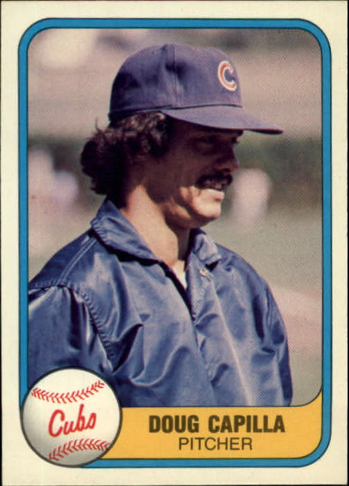 1981 Fleer #309 Doug Capilla UER/Cubs on front but/Braves on back