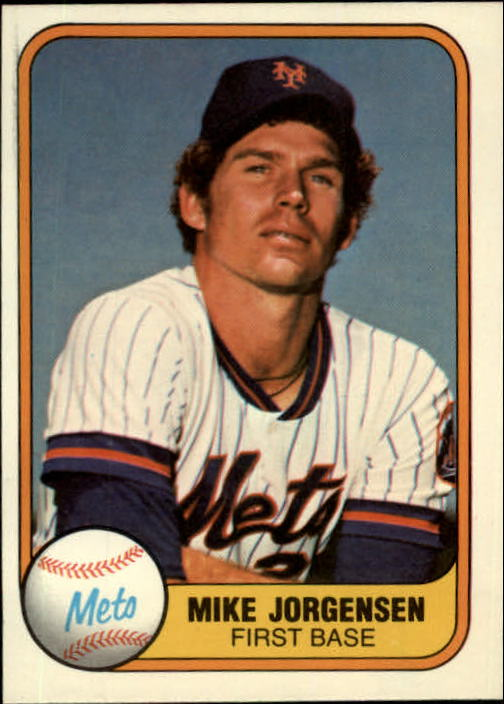 1981 Fleer #324 Mike Jorgensen