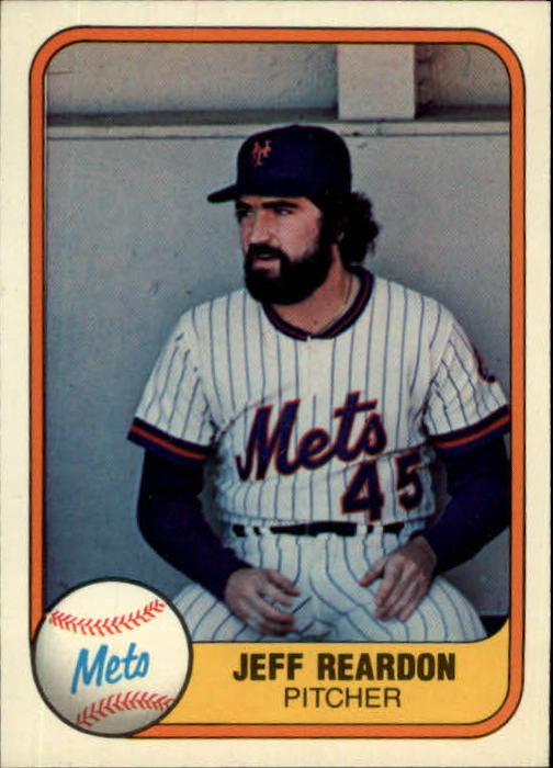 1981 Fleer #335 Jeff Reardon RC front image