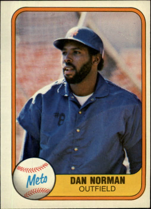 1981 Fleer #337 Dan Norman