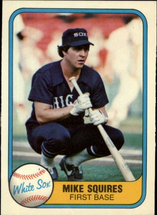 1981 Fleer #349 Mike Squires