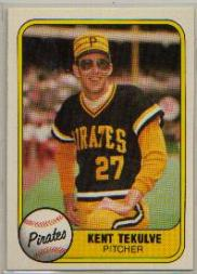 1981 Fleer #362B Kent Tekulve P2/1971 Waterbury and/1978 Pirates
