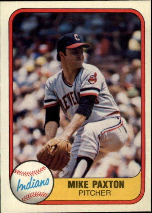 1981 Fleer #401 Mike Paxton